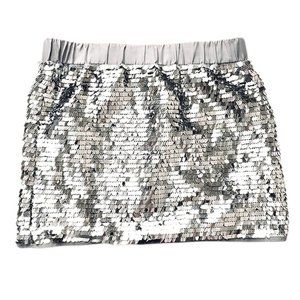 Host Pick❤️ Silver Sequin Mini Skirt